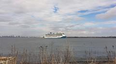 NORWEGIAN BLISS, anchored off Staten Island, New York, USA. March, 2020