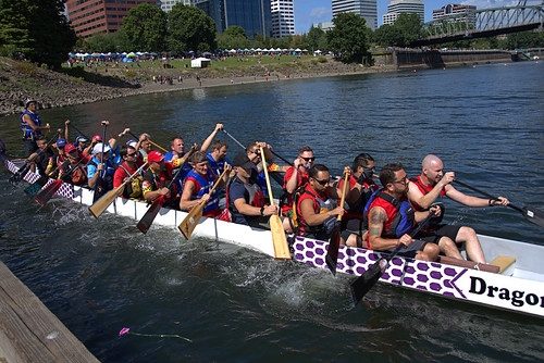 Dragon Boat Team Leaves The Dock