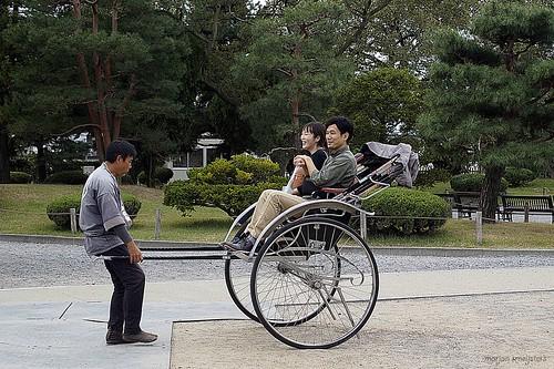 Pulled Rickshaw