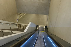 Moving staircase @ Train station @ Eaux Vives @ Geneva