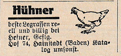 1927 ad for hens