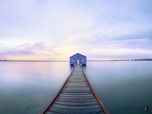 Sunset. Blue Boat House, Perth WA Australia._