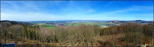 Aussicht vom Turm auf dem Mönchswalder Berg