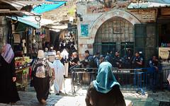 Palestinian territories, East Jerusalem - Walking under Israeli police surveillance - August 2017