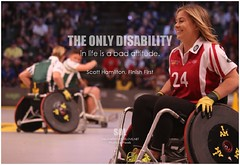 Scott Hamilton The only disability in life is a bad attitude