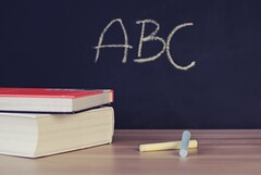 Abc books chalk chalkboard  - Credit to https://homegets.com/