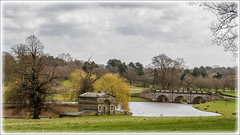 """The Boat House and the Boat House Bridge"", Kedleston Hall, Derbyshire"