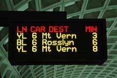 PIDS screen at Pentagon City