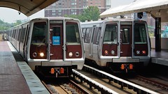 Blue Line trains at Eisenhower Avenue