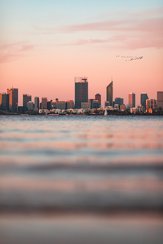 Perth City viewed from Applecross Jetty