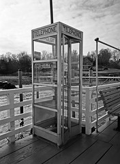 Vintage Phone Booth; Kings Point, New York