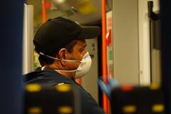 Mask & gloves @ Coronavirus @ Inside the Léman Express train @ Geneva