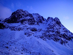 Carn Deag Buttress and Venus in twilight