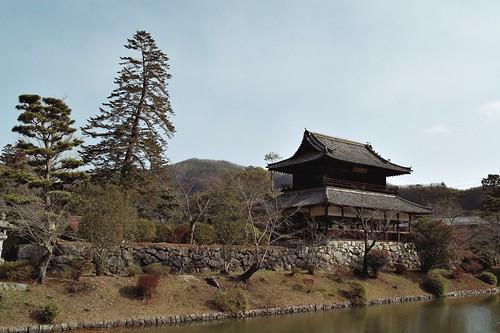 Temple in Kikko park Iwakuni