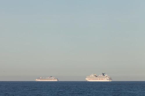 Carnival Spirit (left) & Carnival Splendor