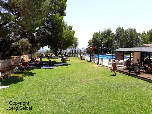 ES-07350 Binissalem (Mallorca) Piscina Municipal Can Arabi im August 2019