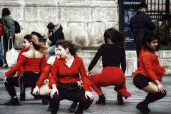 Dancers in Black and Red