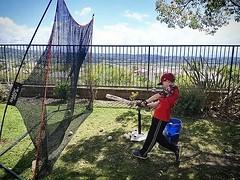 Practice View #mlb #baseball #net #backyard #tee #battingpractice #socialdistancing