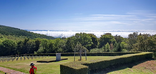 France 959 - Massif des Vosges, Mémorial de Hartmannswillerkopf ou du Vieil Armand au dessus de la plaine d'Alsace