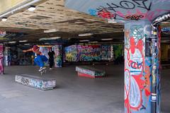 Skateboarding Southbank