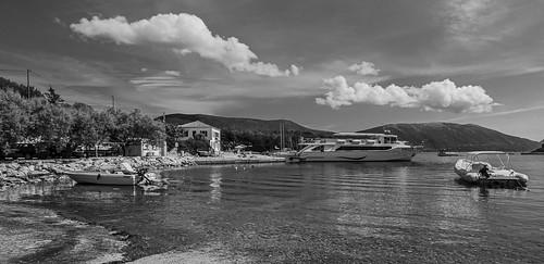 Fiskardo ( Northern Kefelonia - Greece) Monochrome (Olympus OM-D EM1.2 & M.Zuiko 7-14mm f2.8 Pro Wide Zoom) (1 of 1)