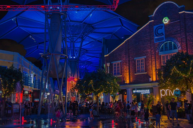 Nightlife at Clarke Quay in Singapore