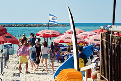 Israel, Tel Aviv - Sea, sand and sun at the surfing club - August 2017