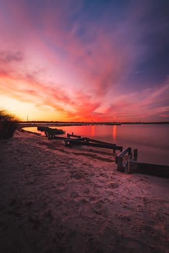 Sunset over Applecross Jetty - Perth, Western Australia