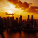 Sunset dawns over the heart of the Lion City