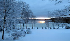 This too shall pass: A winter morning on Egypt Bay, Maine