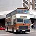 Hong Kong 1982: KMB G544 (CM3879) turning from Nathan Road into Salisbury Road, Kowloon