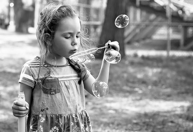 Des bulles au parc