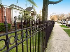 City Architecture. Iron Work Fence, E 17th Street