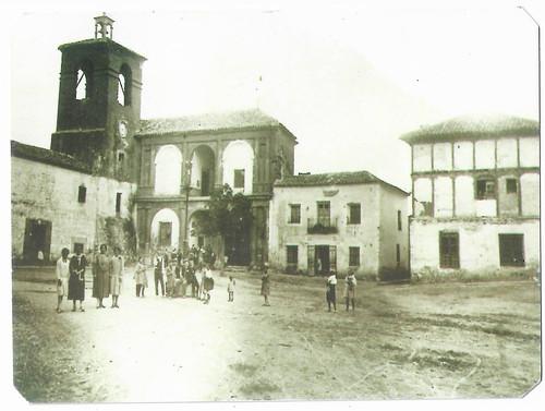 Plaza Mayor de Villanueva de la Jara(Cuenca)en 1927