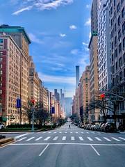 Lonely City, quarantine Coronavirus lockdown Park Avenue
