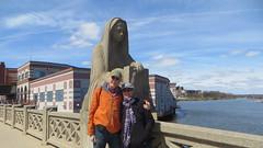 20190413 05 David & Jackie on  Memorial Bridge, Aurora, Illinois