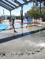 Spray park at Lonsdale Quay