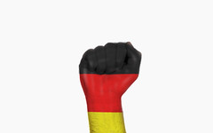 Germany raised fist, protest concept