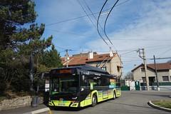 Solaris Trollino n°140  -  St-Etienne, STAS