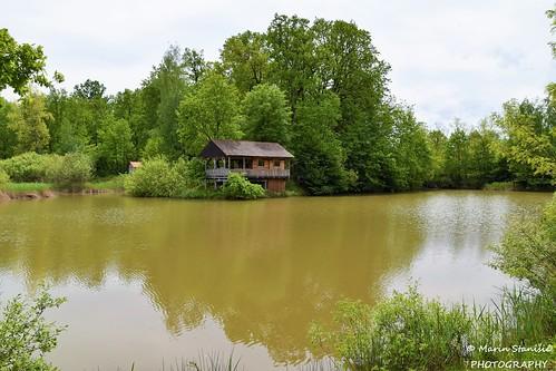 Draganić, Croatia - Wooden cabin on the pond