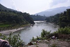 The Narayani river seen from the suspension bridge