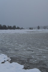 Ice in the bay --Drummond Island during the winter