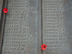 List of War Dead with Poppies