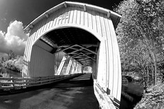 Gilkey Covered Bridge With Infrared