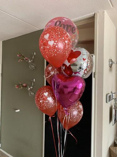 Ballonboeket Rood Roze Liefde Valentijnsdag