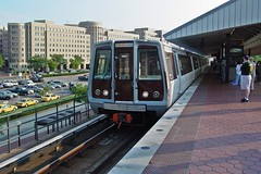 Blue Line train at King Street station