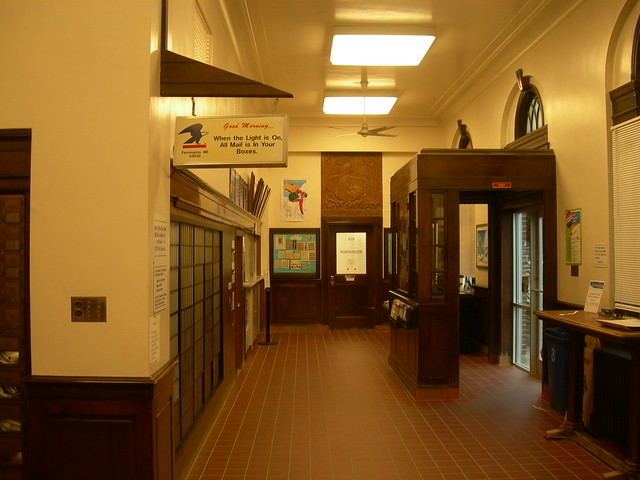 Photo:Farmington ME Post Office Relief  and Lobby By jimmywayne