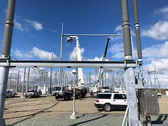 Switch maintenance and steel repairs at Tracy substation