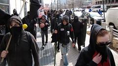 Black bloc at anti-war demonstration