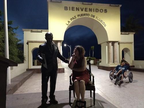 at La Paz malecon:
